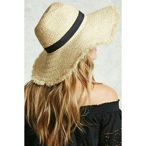 Forever21 beach grass hat